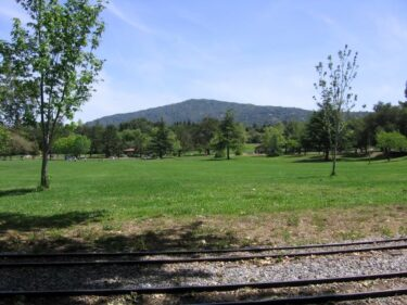 Vasona Green and Rails in front of El Sombroso Mountain