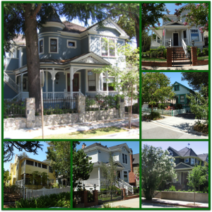Edelen University historic district neighborhood Los Gatos collage 1000