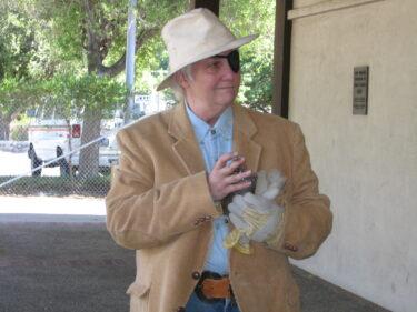 Lynda Dydo as Charley Parkhurst in Los Gatos History Walk on May 6, 2007