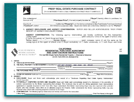 Real estate forms and contracts PRDS and CAR