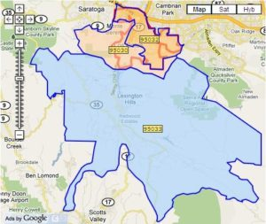 Los Gatos Zip Code Maps Live In Los Gatos