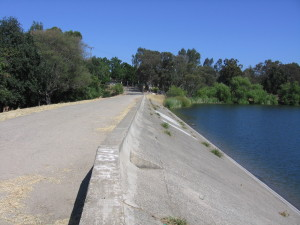 Vasona Lake dam in Los Gatos