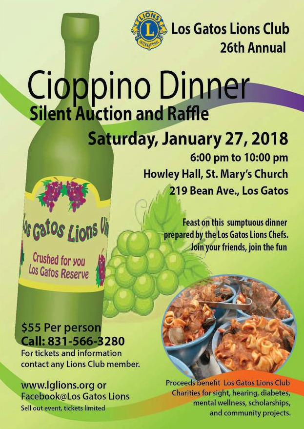 2018 Los Gatos Lions Cioppino Feed