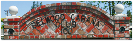 Belwood of Los Gatos Cabaña sign