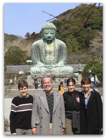 Brian Jim Clair Mary at Kamakura Japan 2004