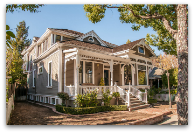 Victorian style house in downtown Los Gatos neighborhood