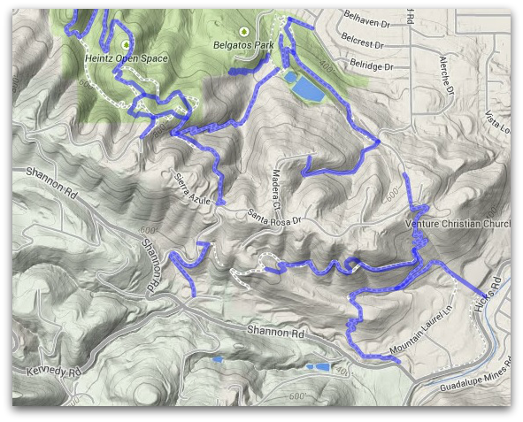 Shannon Valley Open Space Trail Map Los Gatos