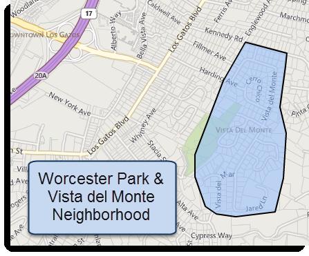 Vista del Monte neighborhood map