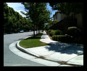 Good sidewalks and curbs