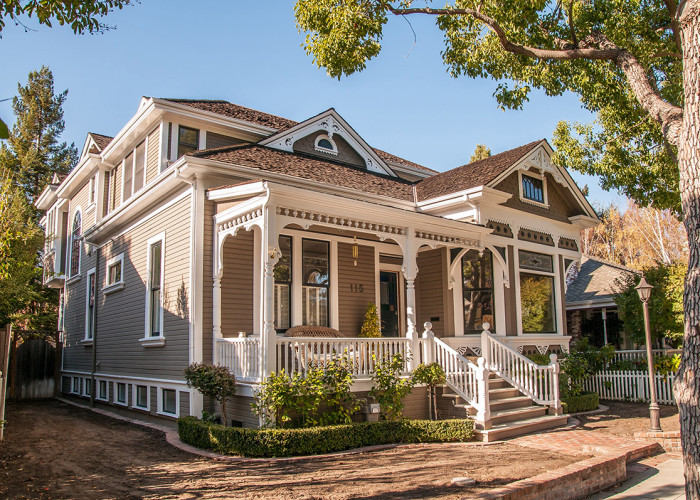Victorian style house in Los Gatos