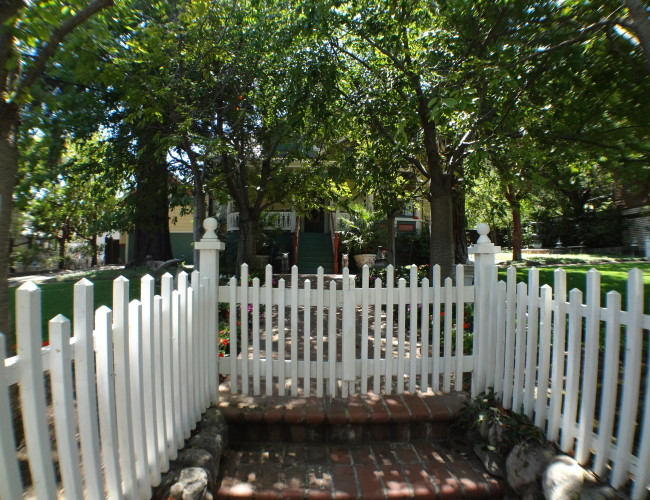 8 hiding behind picket fence and lush greenery 650x500 - The historic Broadway area neighborhood in Los Gatos