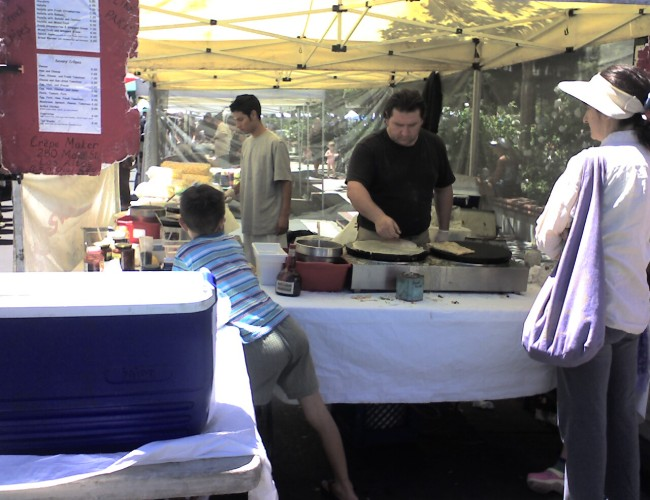 Farmers Market Crepes 650x500 - Visit the Los Gatos Farmer's Market!