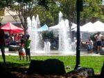 Farmer's Market and Park Plaza Fountain