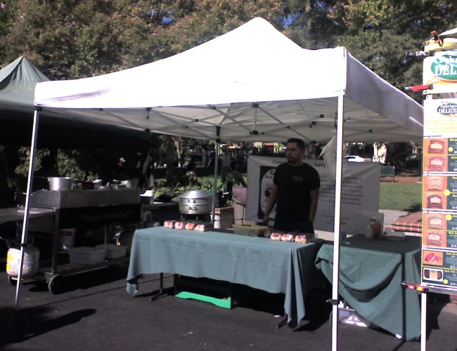 Greenlees Booth 650x500 - Visit the Los Gatos Farmer's Market!