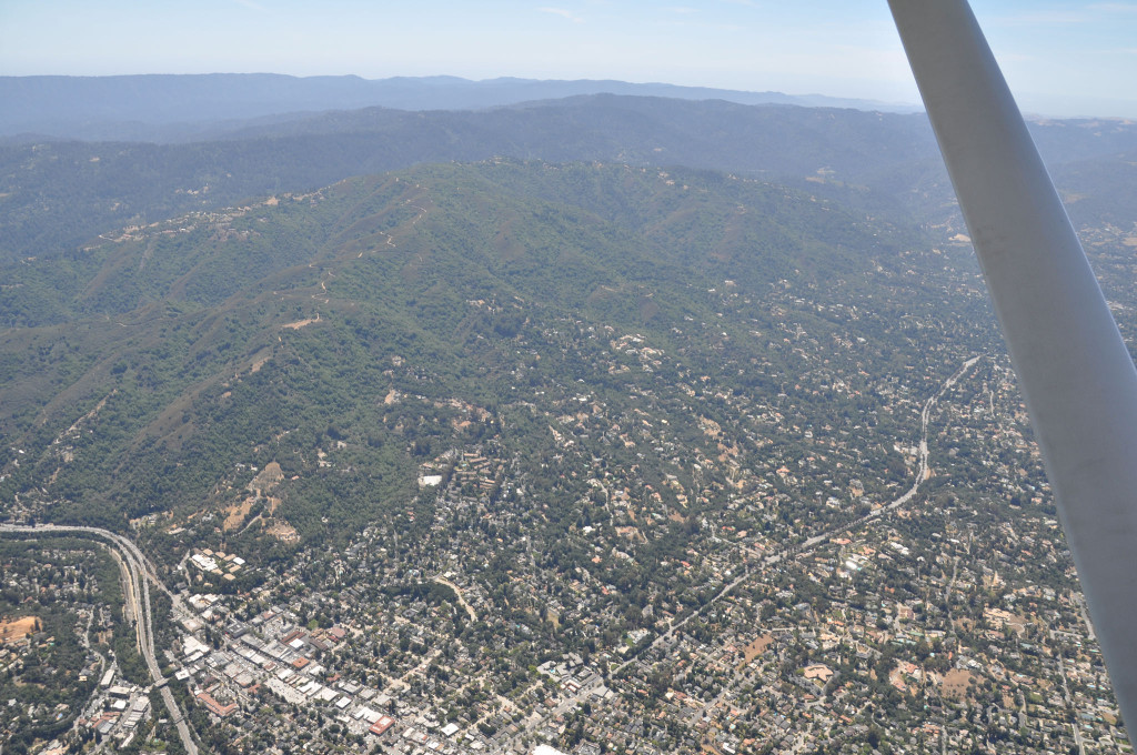 Los Gatos - Monte Sereno hill from the air