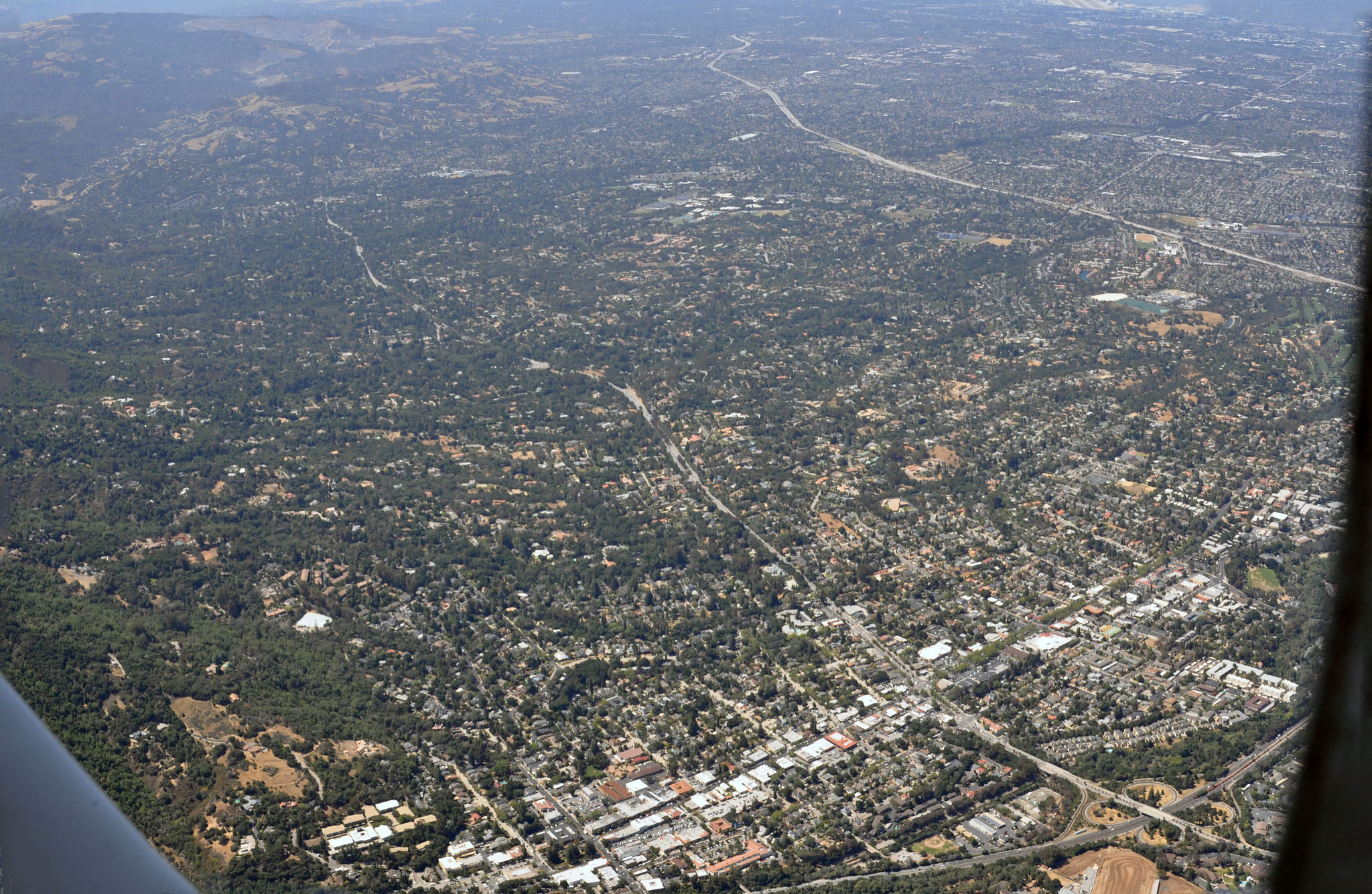 Los Gatos and Saratoga from the air