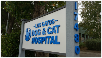 Los Gatos Dog and Cat Hospital Sign
