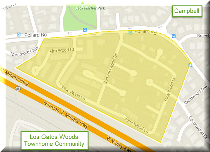Map of Los Gatos Woods