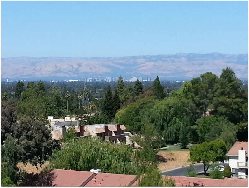 Rinconada Hills view of downtown San Jose