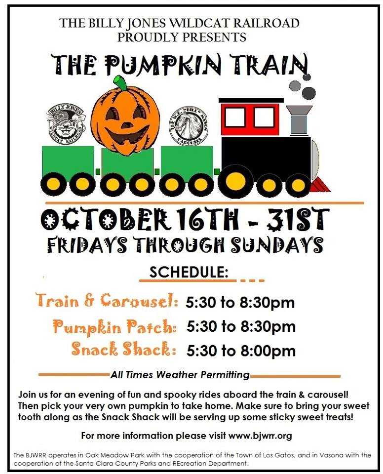 Billy Jones WRR Pumpkin Train 2015
