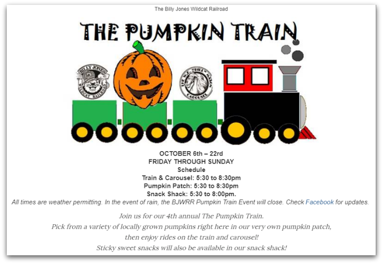 pumpkin train - Pumpkin Train at Oak Meadow Park