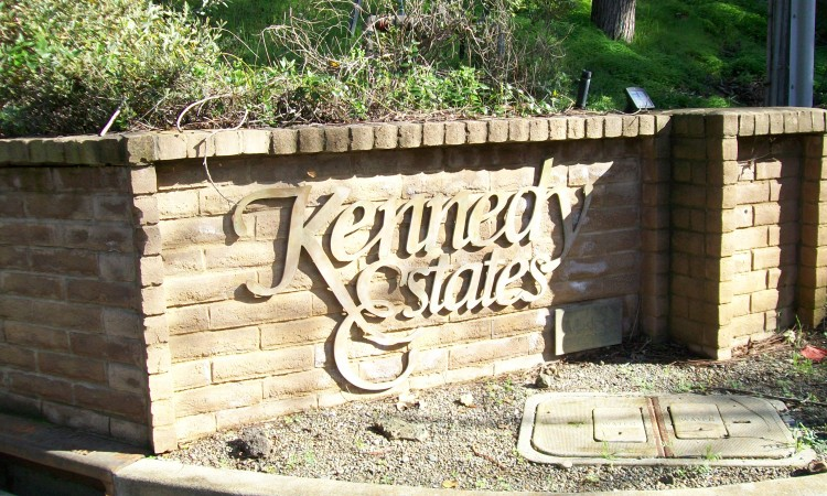 Sign for Kennedy Estates - Forrester Road, Los Gatos