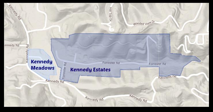 Kennedy Meadows and Kennedy Estates in east Los Gatos