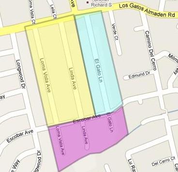 El Gato Terrace, Loma Vista and Rancho Padre areas