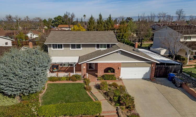 002 Aerial 750x450 - Exquisite, expansive, remodeled Belwood home - 127 Belhaven Drive, Los Gatos