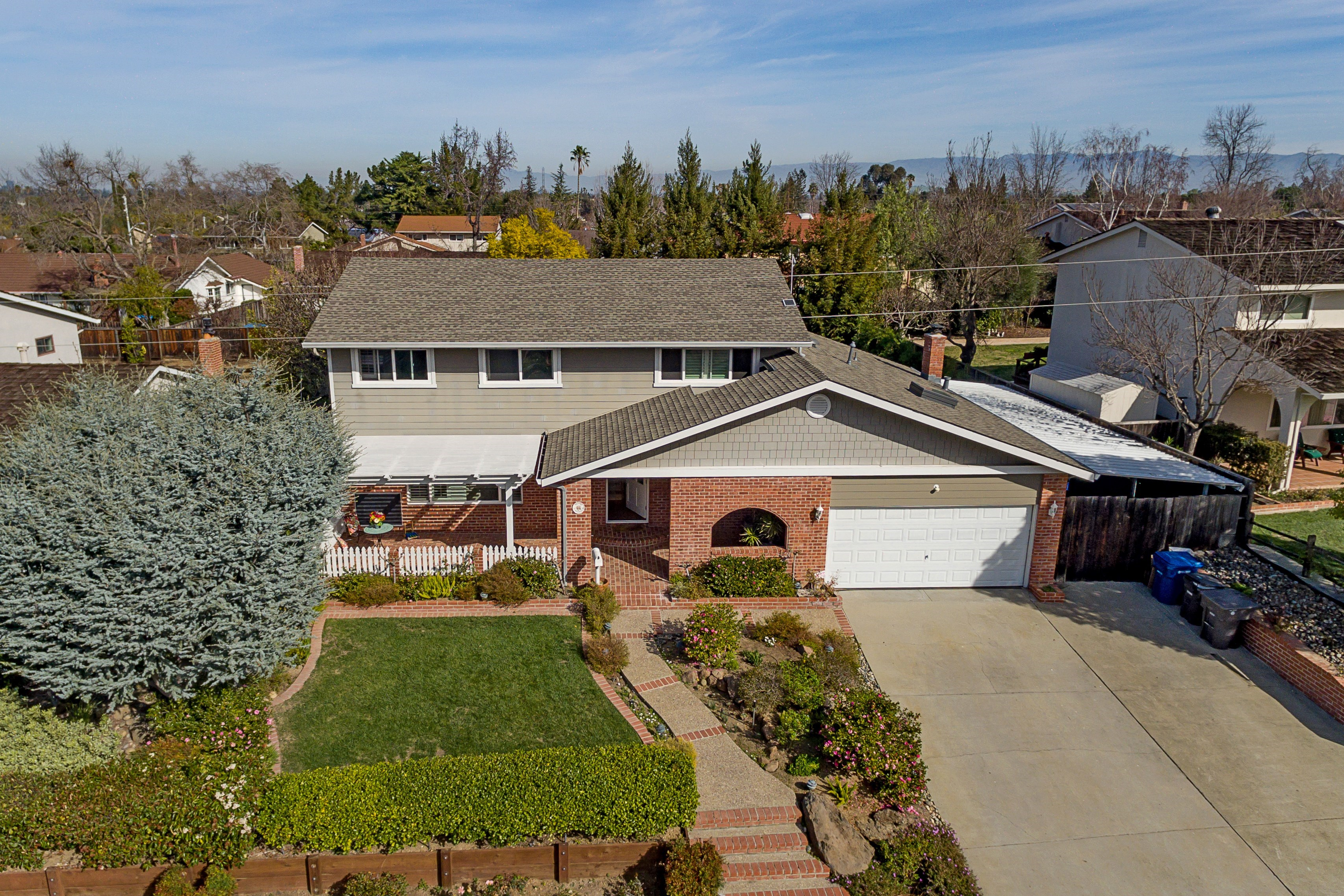 002 Aerial - Exquisite, expansive, remodeled Belwood home - 127 Belhaven Drive, Los Gatos