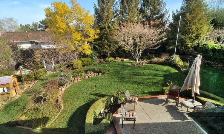 030 Backyard 750x450 - Exquisite, expansive, remodeled Belwood home - 127 Belhaven Drive, Los Gatos