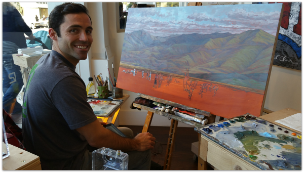 Painter at JCOS Place for Fine Art in Los Gatos