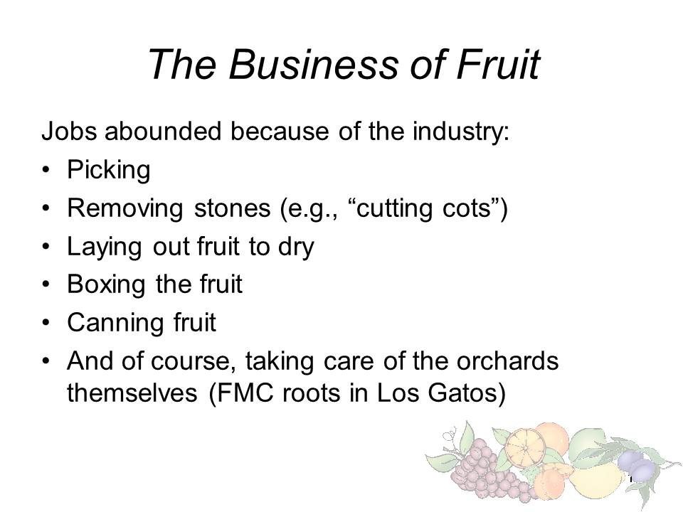 Slide15 - Saratoga and Los Gatos prune orchards - a piece of living history