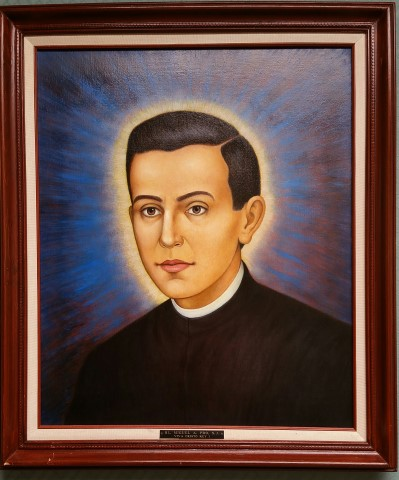 Painting of Blessed Miguel Pro SJ at the Jesuit Novitiate in Los Gatos - Sacred Heart Jesuit Center - formerly the Jesuit Novitiate