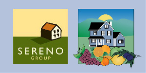 Logos for Sereno Group and for MPH's Valley of Heart's Delight