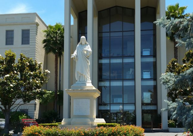 Statue of the Sacred Heart of Jesus at the Sacred Heart Jesuit Center in Los Gatos (romerly the Jesuit Novitiate)