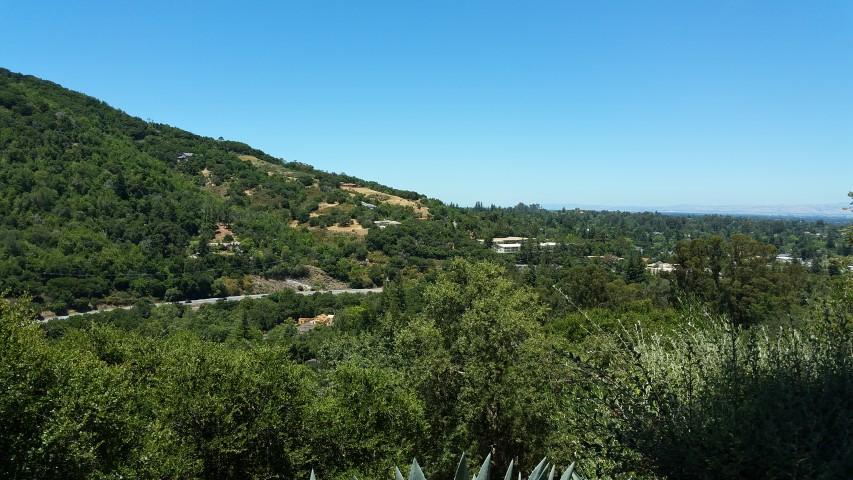 View toward downtown Los Gatos - Sacred Heart Jesuit Center - formerly the Jesuit Novitiate