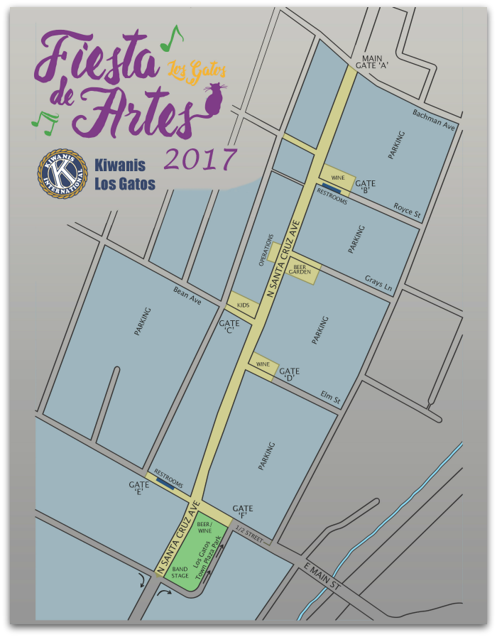 2017 Fiesta Map - Fiesta de Artes in Los Gatos