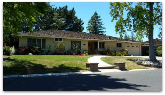 Long ranch style house on Old Adobe Road Los Gatos CA 95032