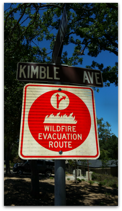 Wildfire Evacuation Route in Los Gatos