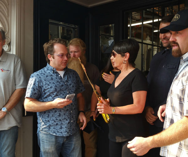 Scott Youkilis and Kevin Youkilis will hold the ribbon, while Los Gatos mayor Barbara Spector will cut it with the large, ceremonial, gold scissors.
