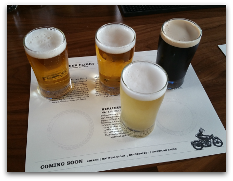 Loma Brewing Company Los Gatos Beer Flight on Grand Opening Night Aug 18 2016