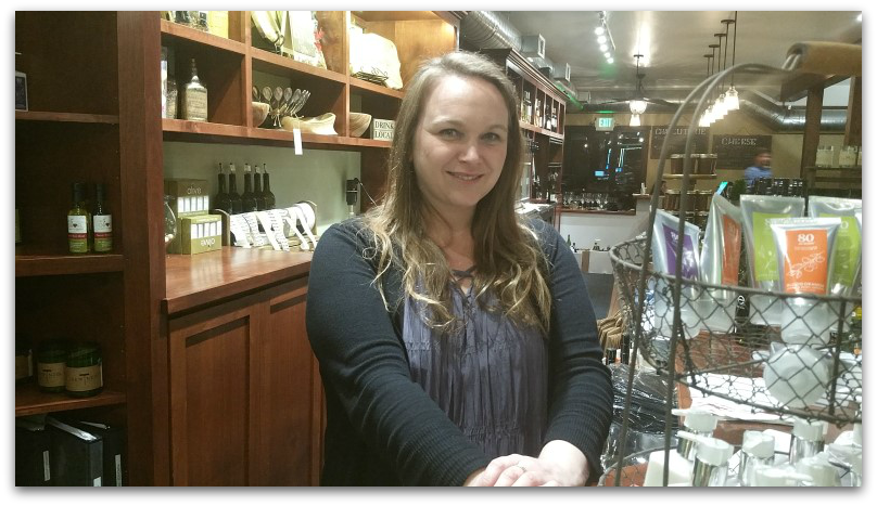 Amanda, the friendly manager with whom we chatted at We Olive in Los Gatos