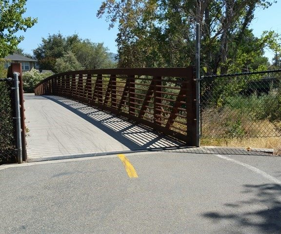 Los Gatos Creek Trail Bridge - Photo by Mary Pope-Handy