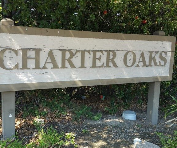 Charter Oaks Sign - Photo by Mary Pope-Handy