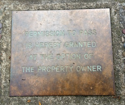 Village Lane Los Gatos: Permission to pass is hereby granted at the option of the property owner