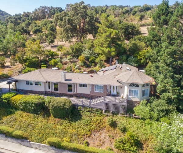 Aerial view of 211 Westhill Drive, Los Gatos CA 95032