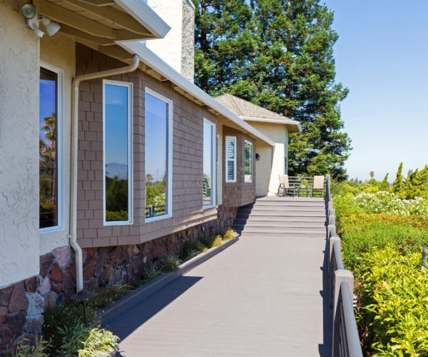 Front walkway of this stunning east Los Gatos view home
