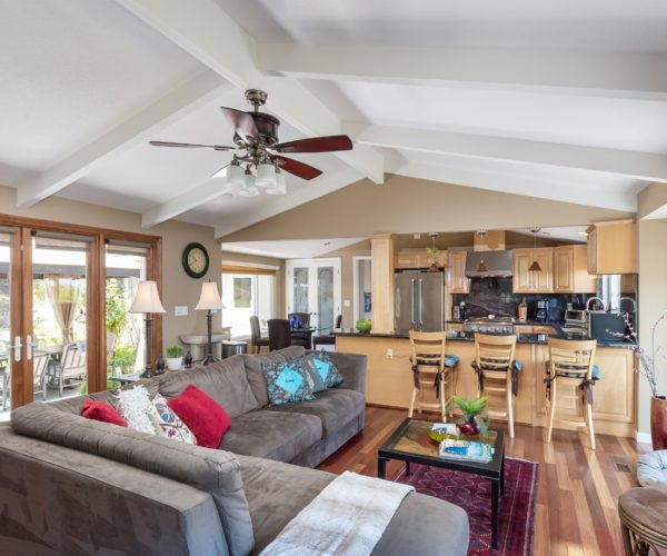 Family room and open kitchen are the heart of the home.