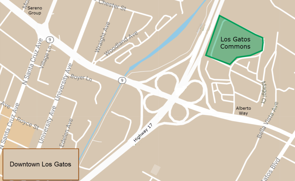 Los Gatos Commons Map